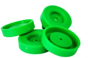 Proops 4 x 42mm dia 4mm Bore Wheels GREEN. Toy Car. S7348